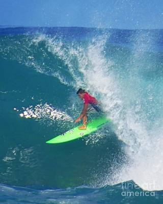 Triple Crown Of Surfing Photograph - Pro Surfer Keanu Asing Backdoor by Scott Cameron