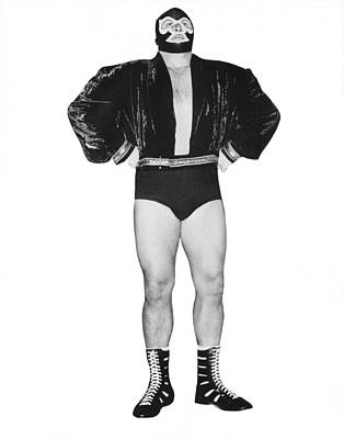 Pro Wrestler Mister M Art Print by Underwood Archives
