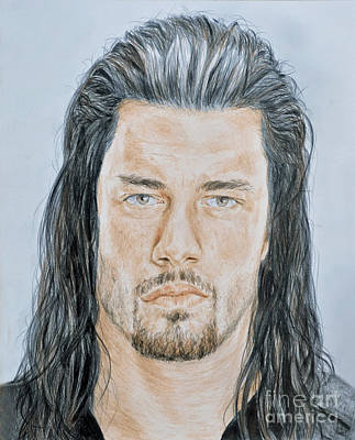 Pro Wrestling Superstar Roman Reigns  Art Print