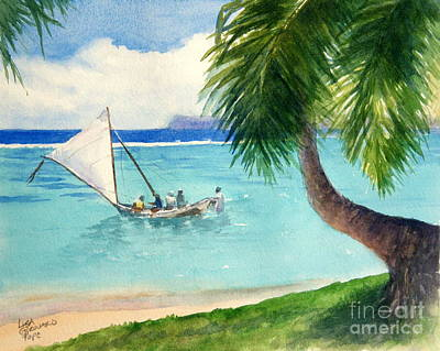 Phillipines Painting - Proa Setting Sail -sold by Lisa Pope