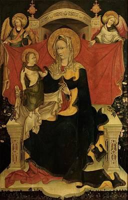 Seraphim Angel Photograph - Probably Artista Veneziano, Madonna by Everett