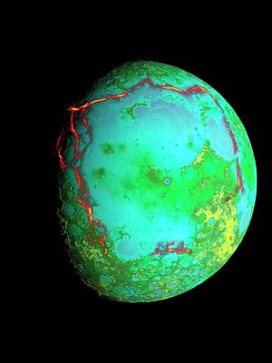 Procellarum Lunar Region Art Print by Nasa/scientific Visualization Studio