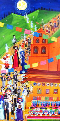 Painting - Procession by Evangelina Portillo