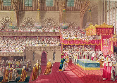 Congregation Photograph - Procession Of The Dean And Prebendaries Of Westminster Bearing The Regalia, From An Album by Charles Wild
