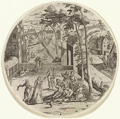 Musicians Playing Drawing - Prodigal Son Squanders His Money, Anonymous by Anonymous