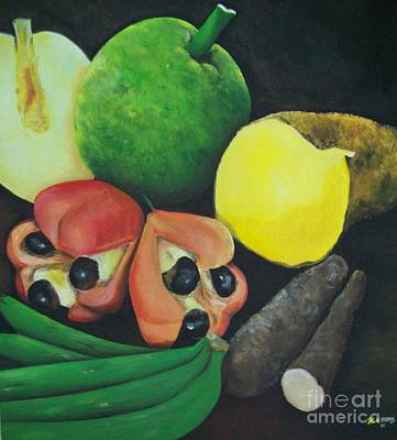 Jamaican Painting - Produce Of Jamaica by Kenneth Harris