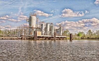 South Louisiana Photograph - Production Unit by Scott Pellegrin