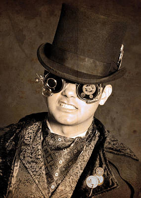 Steampunk Photograph - Prof. Phineas Antheros Was Subject To Occasional Unpleasant Fits by Evan Butterfield