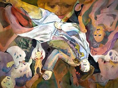 Profane Abuse Of Humans Original by Susan Cafarelli Burke