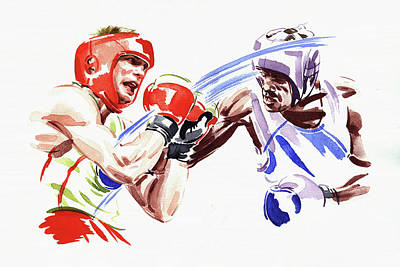 Other Painting - Professional Boxing Match by Ikon Images