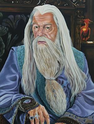 Dumbledore Painting - Professor Dumbledore by Robert Steen
