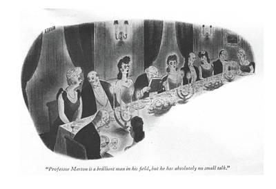 Awkward Wall Art - Drawing - Professor Merton Is A Brilliant Man In His ?eld by Richard Taylor