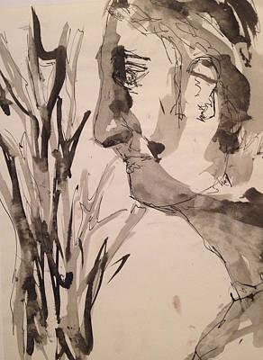 Drawing - Profile by Erika Chamberlin