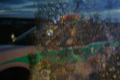 Police Chase Painting - Profile In The Window. by Carol Brown