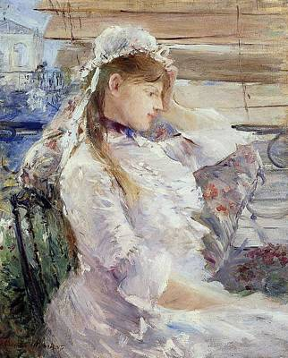 Profile Of A Seated Young Woman Art Print by Berthe Morisot