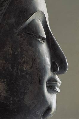 Statue Portrait Photograph - Profile Of The Face Of Buddha, 17-18th by Everett