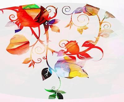 Digital Art - Profound Thought Rose Vine by Catherine Lott