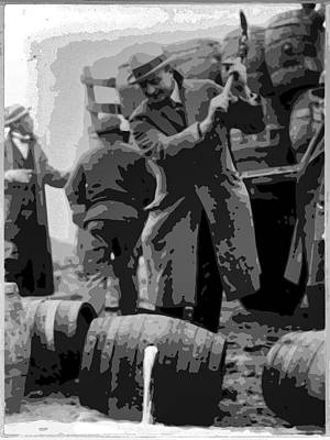 Cop Digital Art - Federal Prohibition Agents Destroy Liquor 1923 by Daniel Hagerman