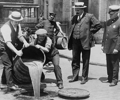 Drain Photograph - Prohibition In The Usa by Unknown