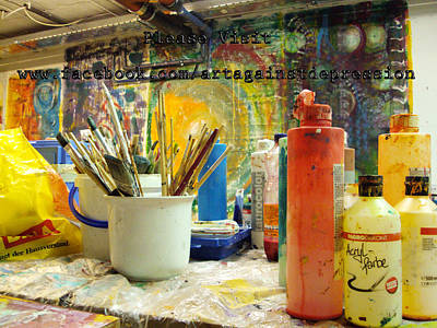 Ice-t Digital Art - Project Art Against Depression Visit Us On F B by Sir Josef - Social Critic -  Maha Art