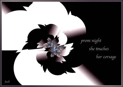 Digital Art - Prom Night Haiga by Judi Suni Hall
