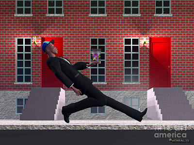 Brick Schools Digital Art - Prom Night by Walter Oliver Neal