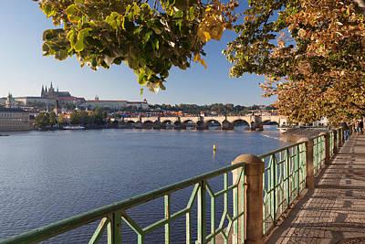 Prague Photograph - Promenade Along Vitava River by Panoramic Images