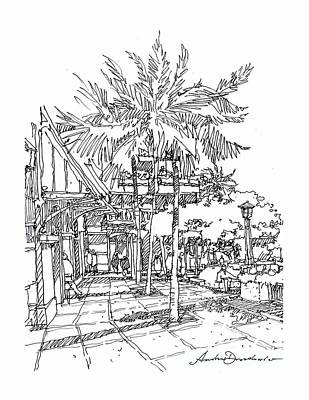 Art Print featuring the drawing Promenade by Andrew Drozdowicz