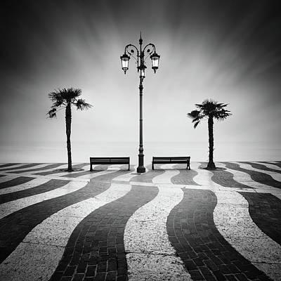 Lamps Photograph - Promenade... by Daniel ?e?icha