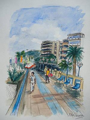 Promenade Art Print by Helen J Pearson