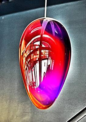 Photograph - Promenade In A Light Globe by Bob Wall