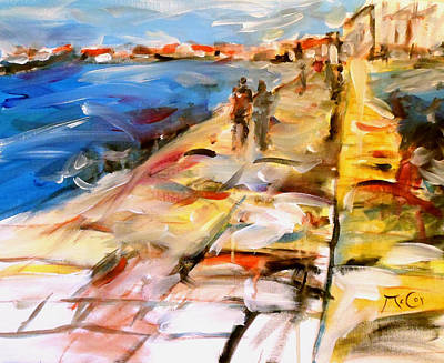 South Of France Painting - Promenade by K McCoy