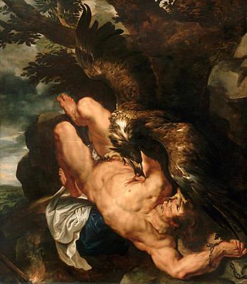 Prometheus Painting - Prometheus Bound by Peter Paul Rubens