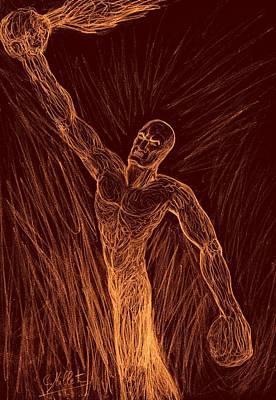Raising Mixed Media - Prometheus - Rainsing Awereness by Cindy MILLET