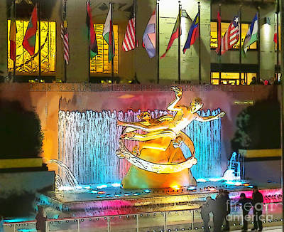 Photograph - Prometheus Sculpture In Rockefeller Center  by Kerri Farley