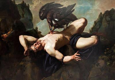 Prometheus Painting - Prometheus by Theodoor Rombouts