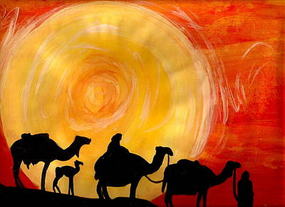 Camel Caravans Mixed Media - Promise by Jess Weiner