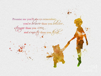 Cartoons Mixed Media - Promise Me You'll Always Remember by Rebecca Jenkins