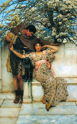 Tadema Digital Art - Promise Of Spring by Sir Lawrence Alma Tadema