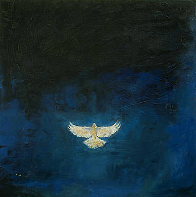 Dove Painting - Promised Land by Michael Creese