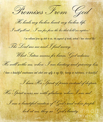 Digital Art - Promises From God by MaryJane Armstrong