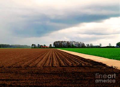 Art Print featuring the photograph Promissing Field by Luc Van de Steeg