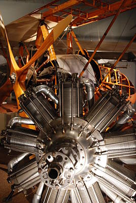 Photograph - Prop Plane Engine Illuminated by Kenny Glover