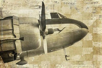Plane Painting - Prop Plane Nose by Ramona Murdock