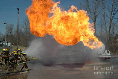Photograph - Propane Burn by Steven Townsend