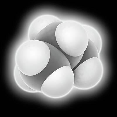 Propane Photograph - Propane Molecule by Laguna Design