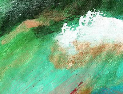 Propel Aqua Green Art Print by L J Smith