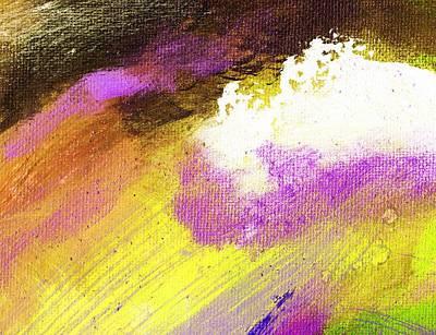 Propel Yellow Purple Art Print by L J Smith