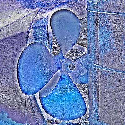 Propeller Blue Art Print by Sharon Lisa Clarke