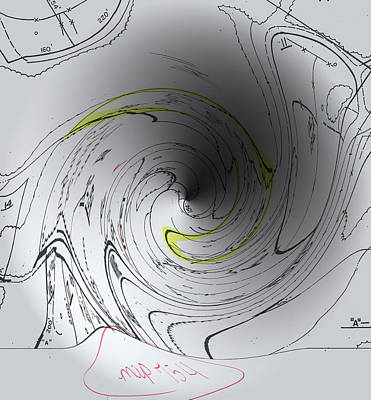 Digitally Manipulated Drawing - Property Taxes - The Real Black Hole by Cody Cookston